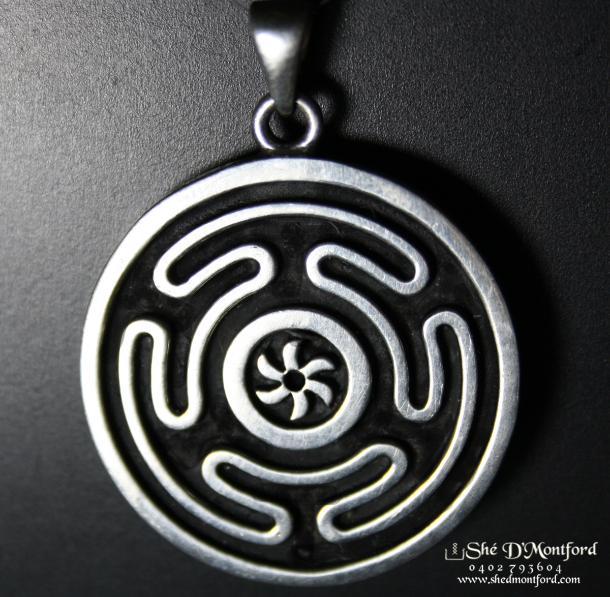 necklace image wiccan products pendant jewelry lunar goddess hecate pagan