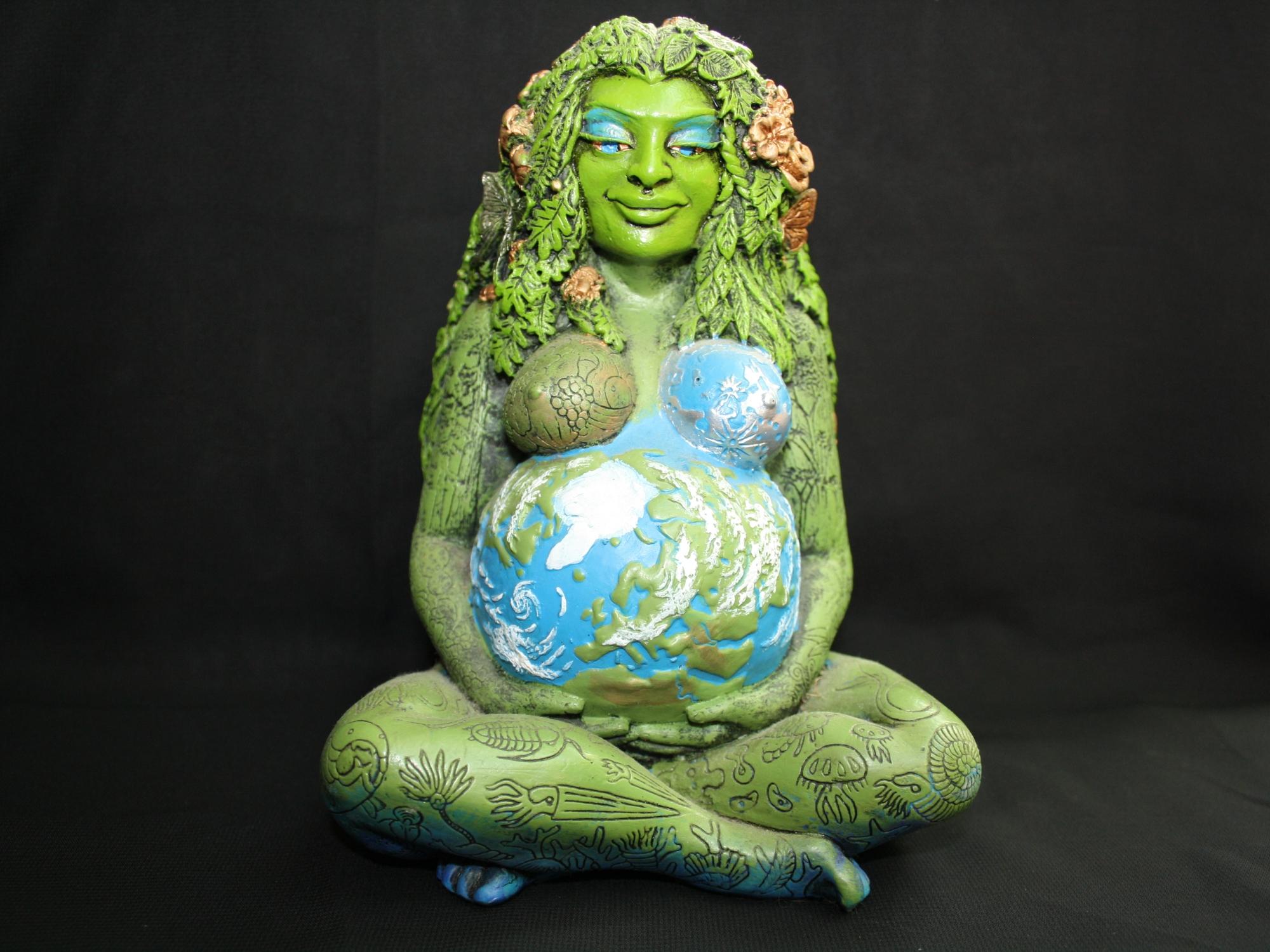 Ancient Gaia Statue millennial gaia statue craftedoberon zell